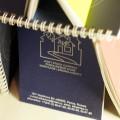 Блокнот на брошюровке, обложка дизайнерский картон, страницы с персонализацией